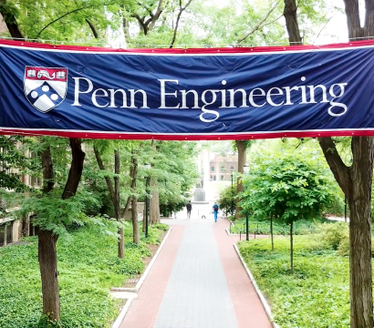 Penn Engineering Banner across walkway