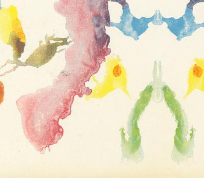 Watercolor image of abstract shapes
